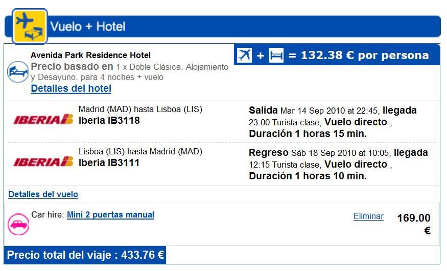 Lisboa Increíble 4 Noches Vuelos Coche 434 Euros